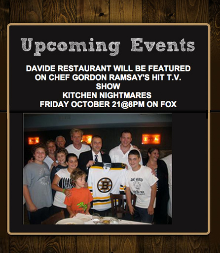 Davide Restaurant Featured By Chef Ramsay's Hit TV Show
